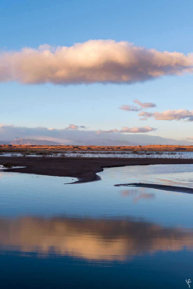 Ouarzazate lake by abdellah azizi