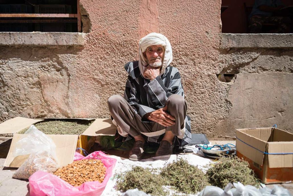 Moroccan seller at festival des roses 2015