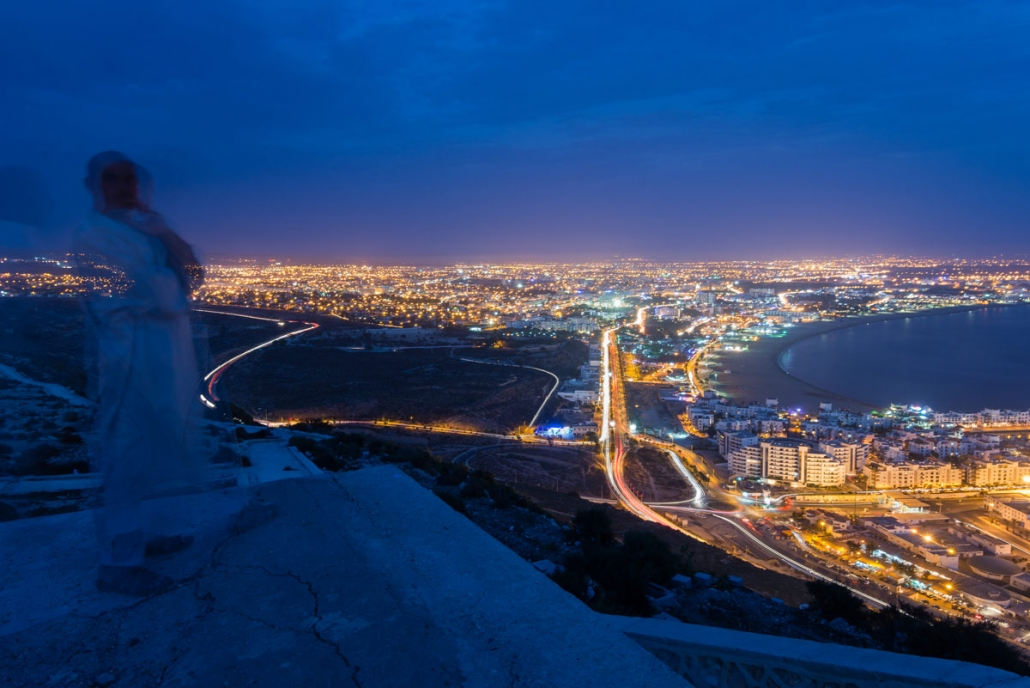 Agadir Oufela at dusk
