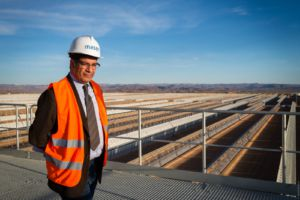 Mustapha Bakkoury at Ouarzazate Solar Power Station