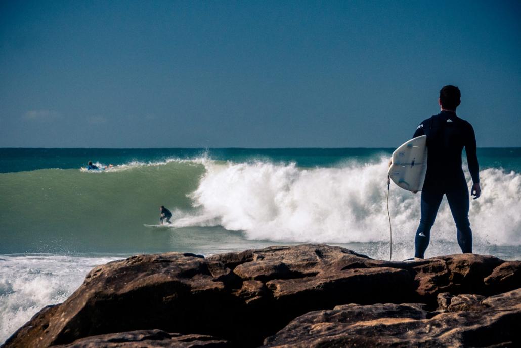 Surfing Taghazout beach Agadir