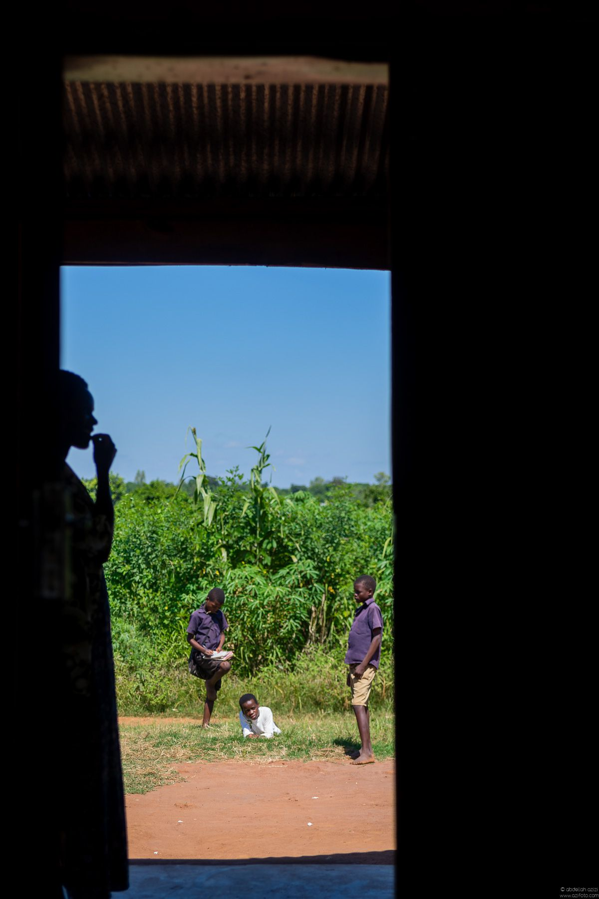 School boys in Malawi