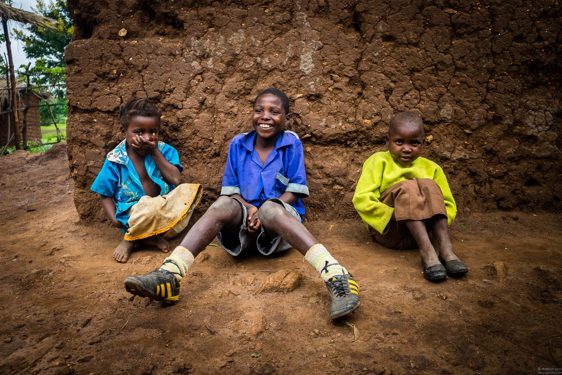 Boys and a girl, in Malawi