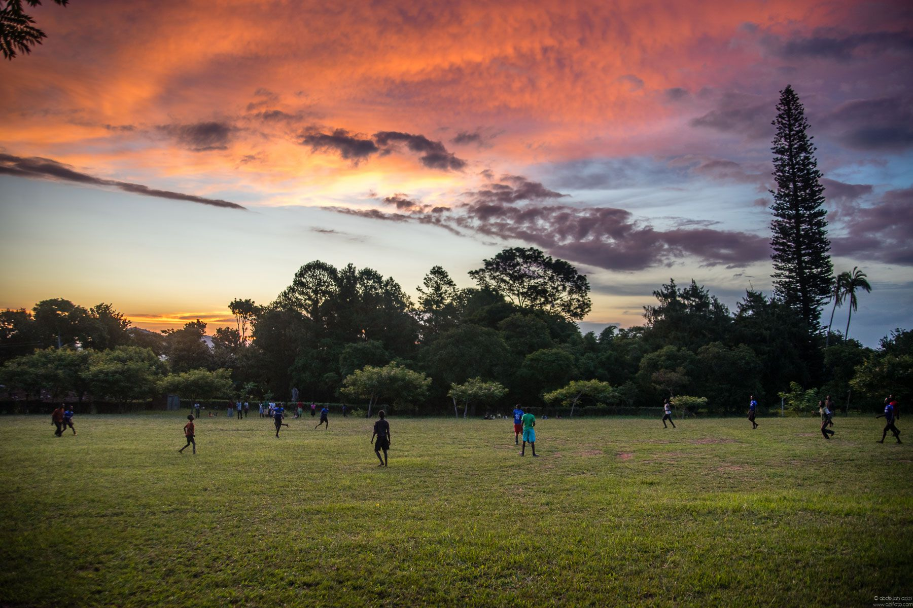 Young people playing football - malawi