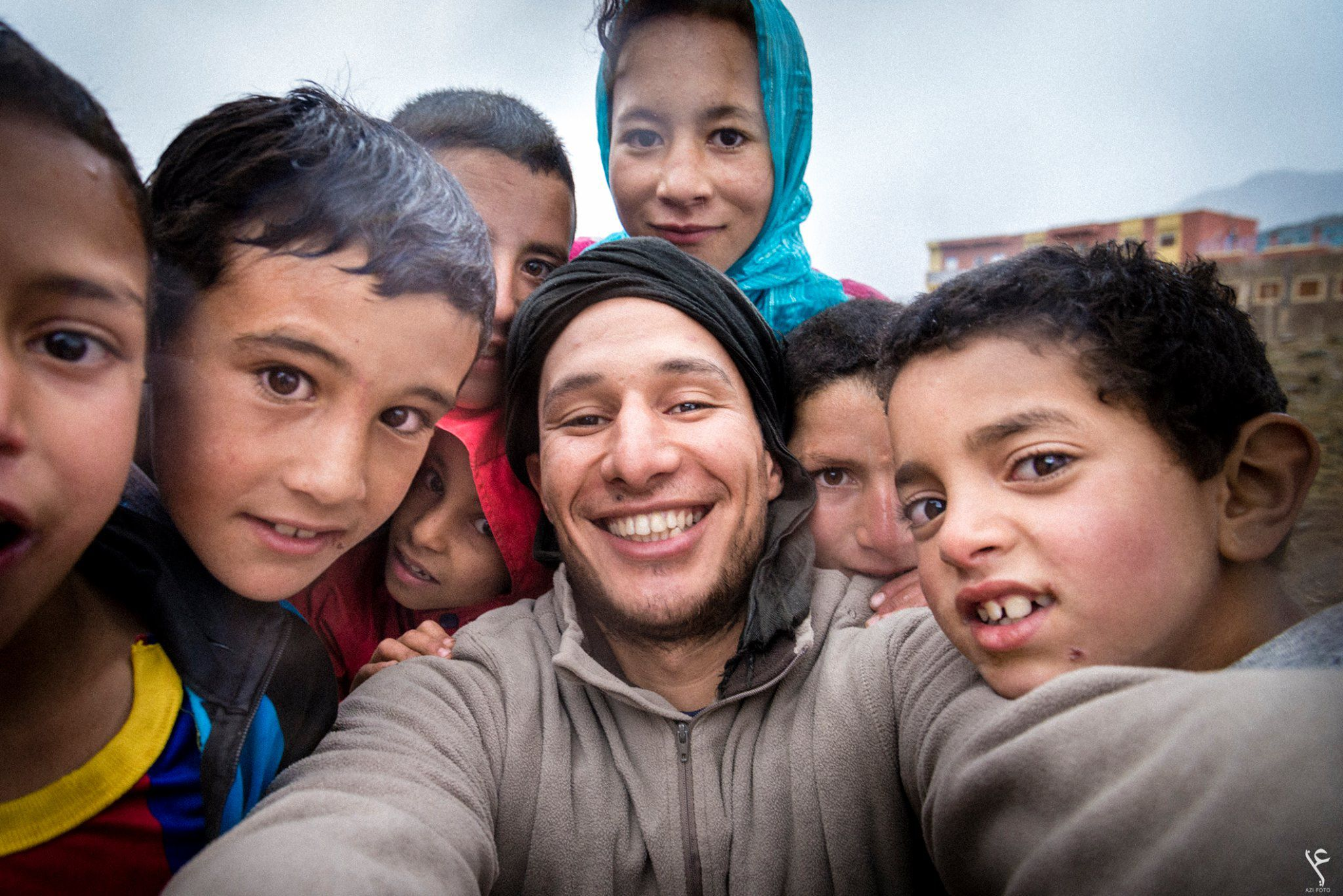 abdellah azizi and kids