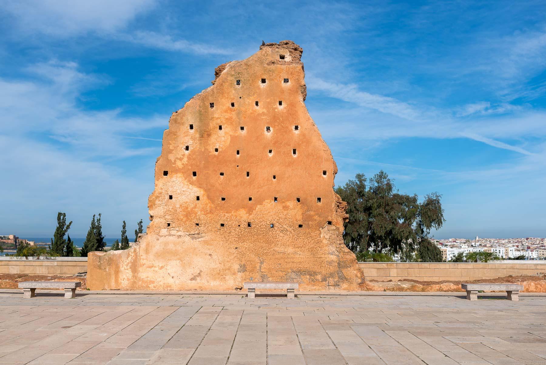 Wall, Hassan Rabat, Morocco