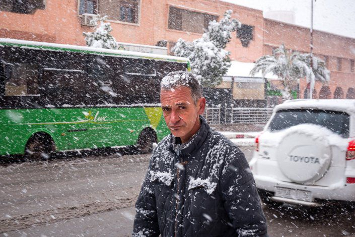 Snow fall in Ouarzazate reportage