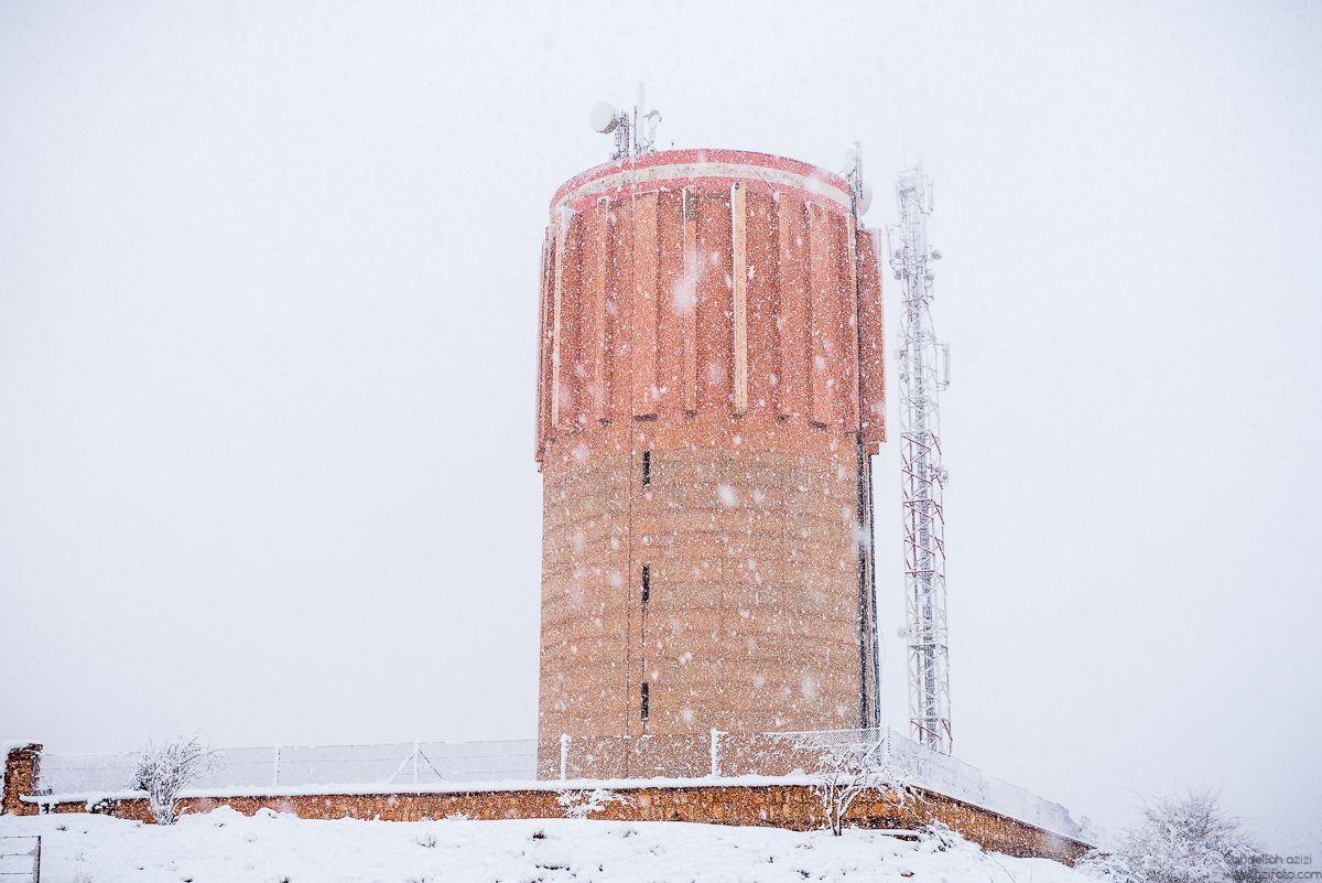 Snow fall Ouarzazate, Morocco