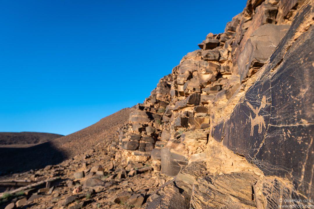 Rock carved, Foum Chenna petroglyph site - Morocco