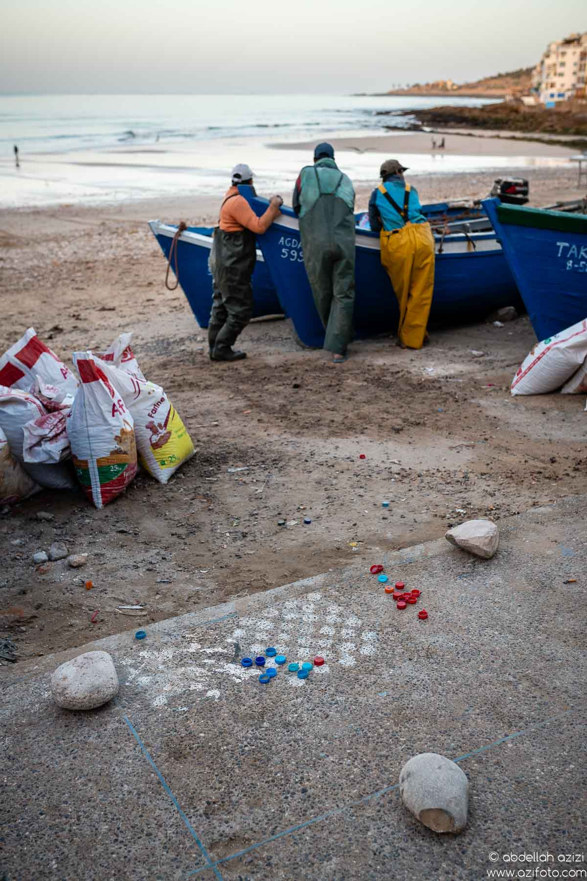 Fishermen, Taghazout village, Morocco