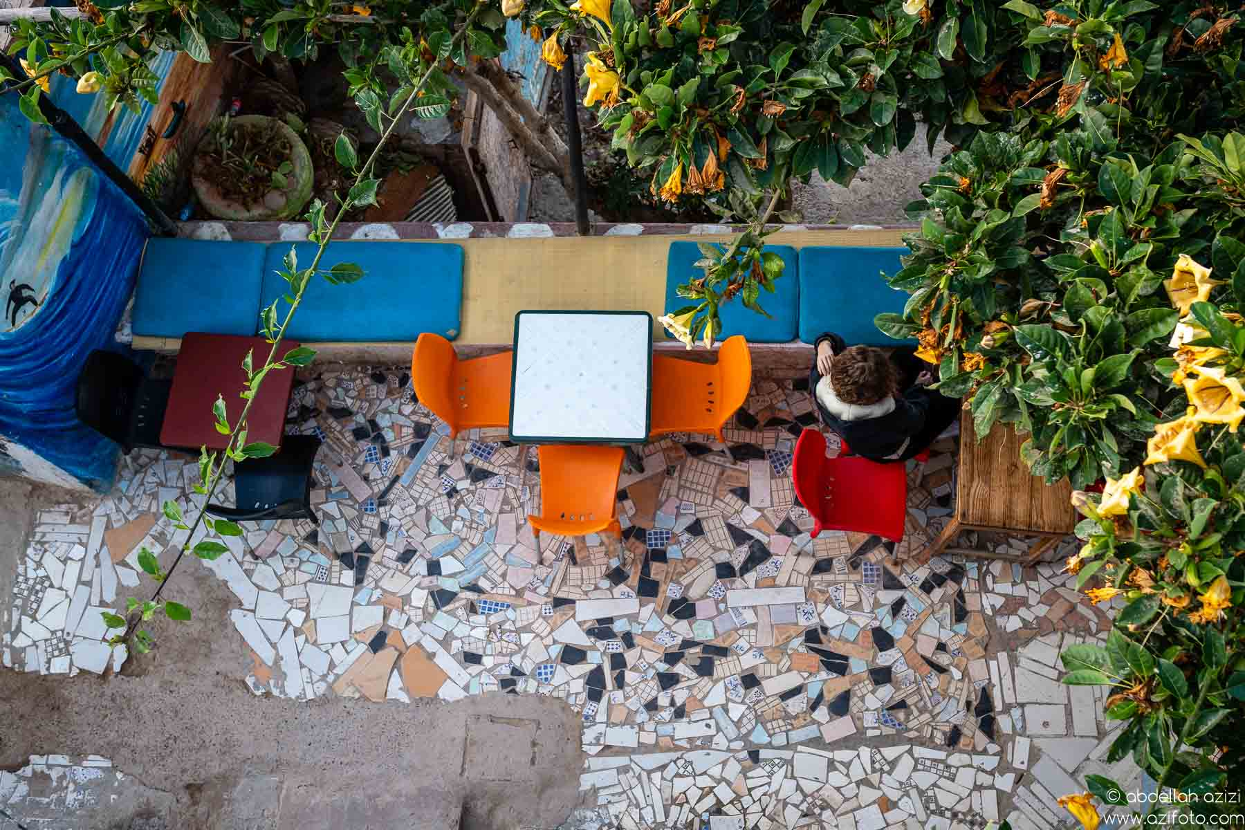 Coffee shop, Taghazout village, Morocco