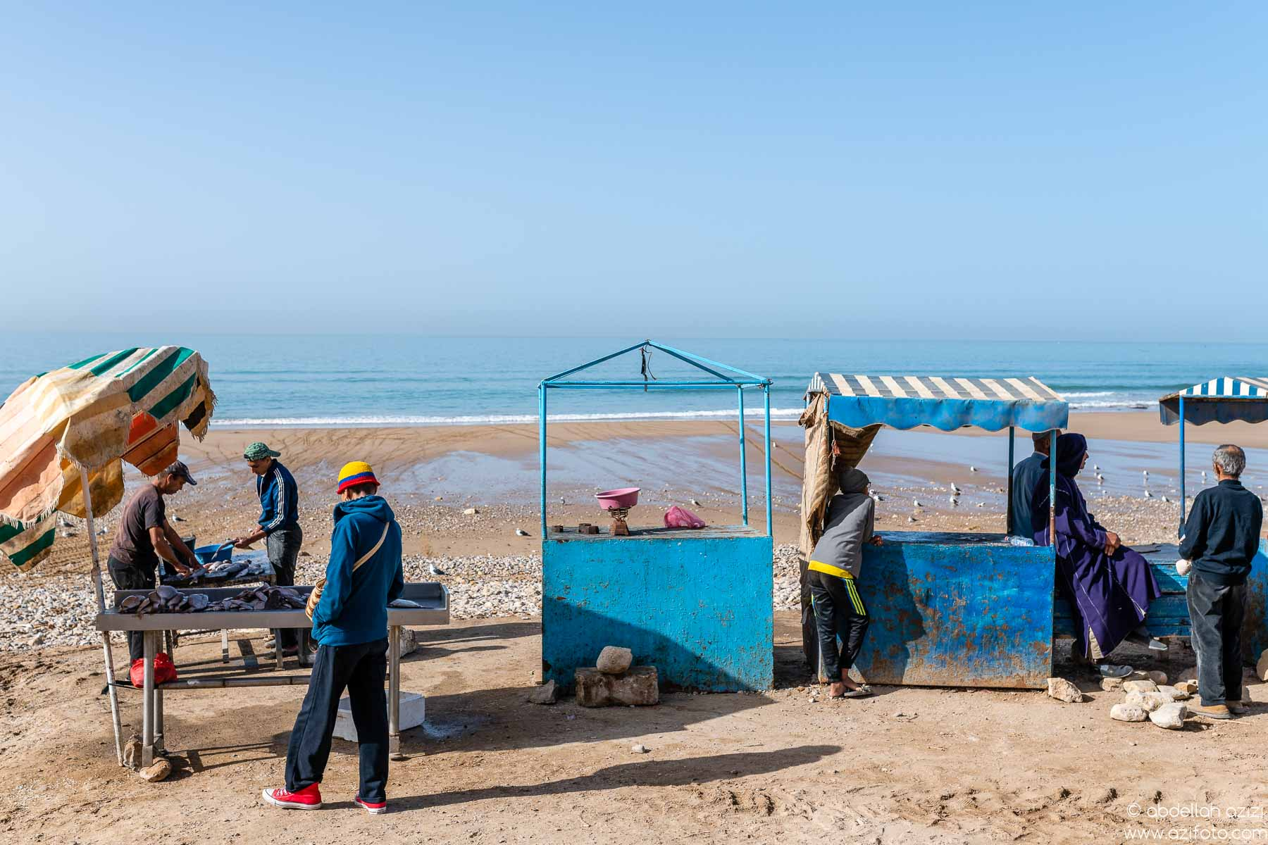Fishermem, Taghazout village, Morocco