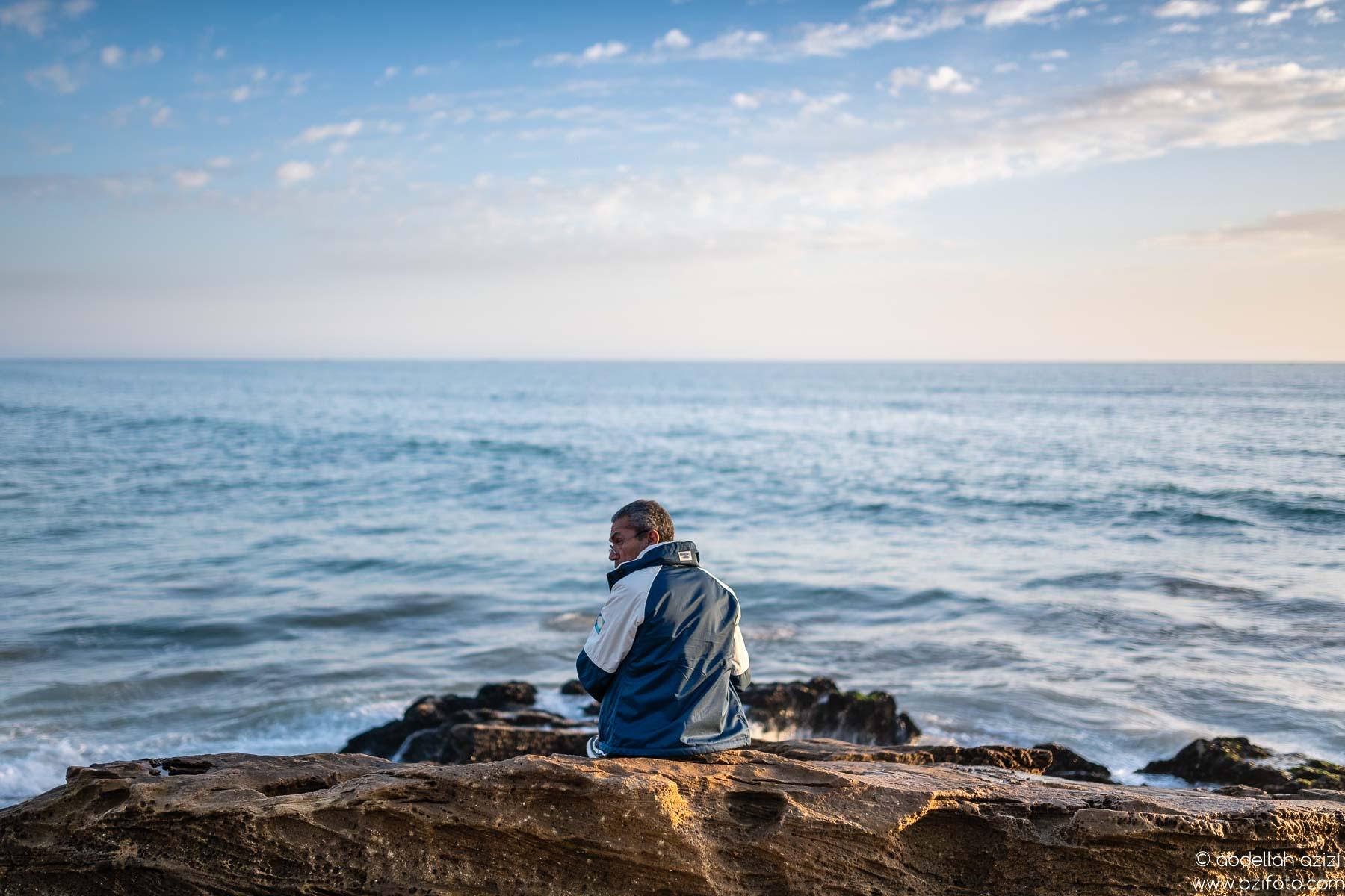 Man in beach, Morocco