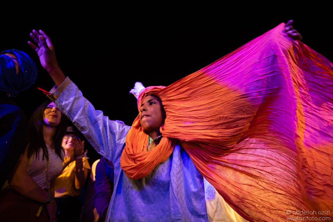 Young dancing Taragalte Festival, Mhamid, Morocco