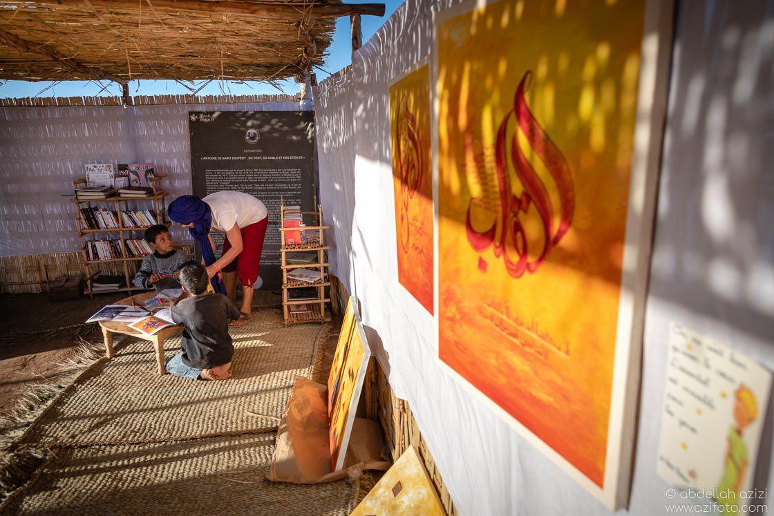 Art gallery Taragalte Festival, Mhamid, Morocco