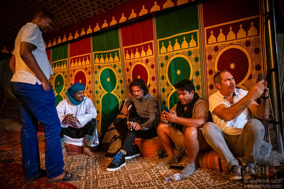 Aziz sehmaoui Brahim Sbai Taragalte Festival, Mhamid, Morocco