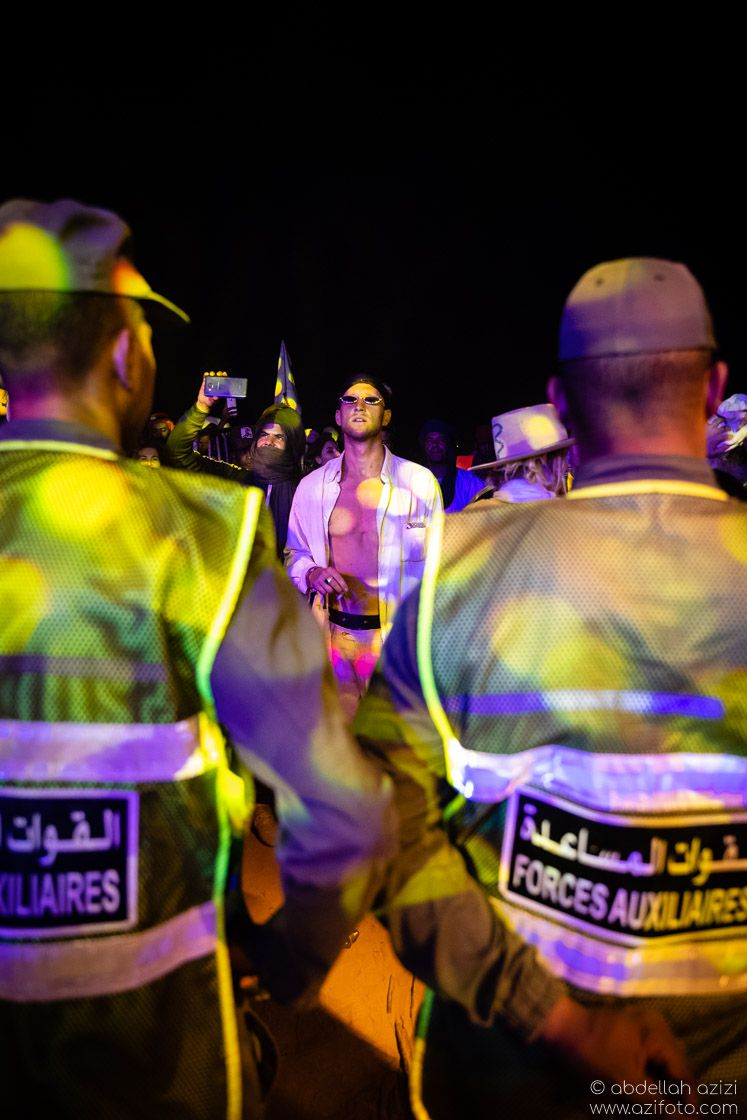Police Taragalte Festival, Mhamid, Morocco