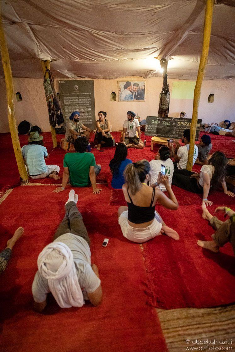 Conference Taragalte Festival, Mhamid, Morocco