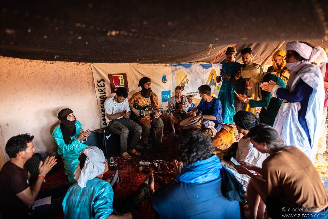 Jamming Taragalte Festival, Mhamid, Morocco