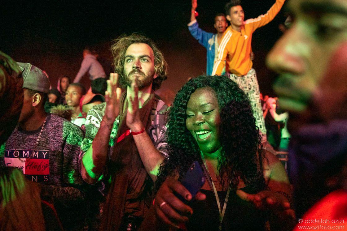 Audience Taragalte Festival, Mhamid, Morocco