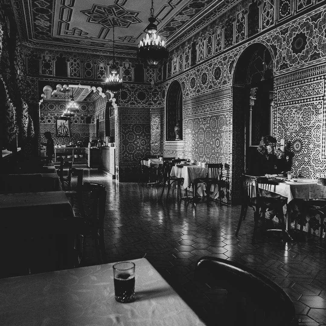 Restaurant Black and White, Tangier Morocco