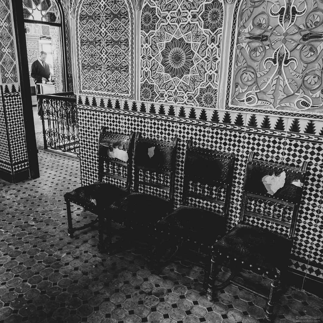 Old chairs, Black and White, Tangier Morocco