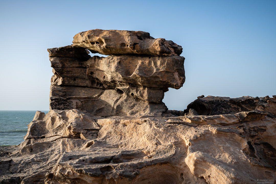Dragon head Guerguerat beach Morocco