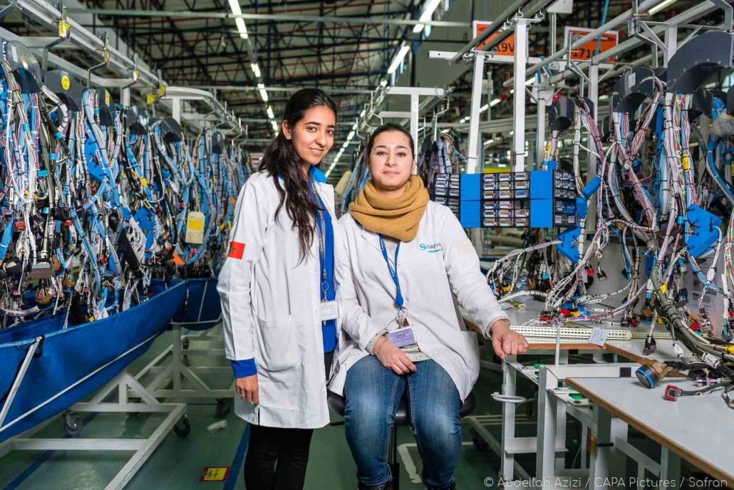 Aerospace factory young women