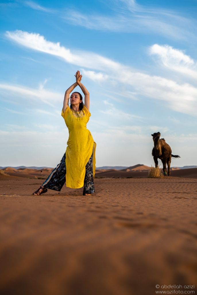 Desert dancer with camel