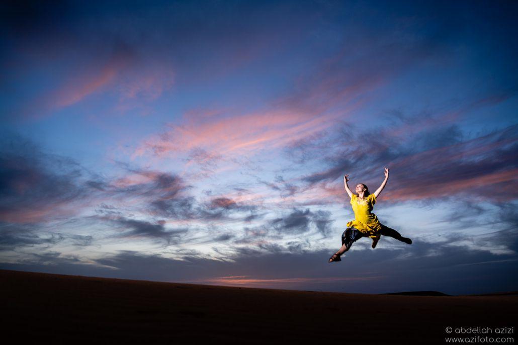 Desert dancer Sunset