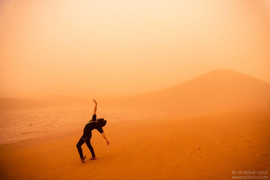 Desert dance sand storm